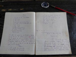 Cahier d'écolier - 1954