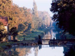 Vue du canal de Berry - La Queugne à Epineuil-le-Fleuriel