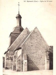 L'église d'Epineuil-le-Fleuriel en 1900
