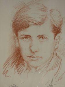 Portrait au fusain d'Alain Fournier