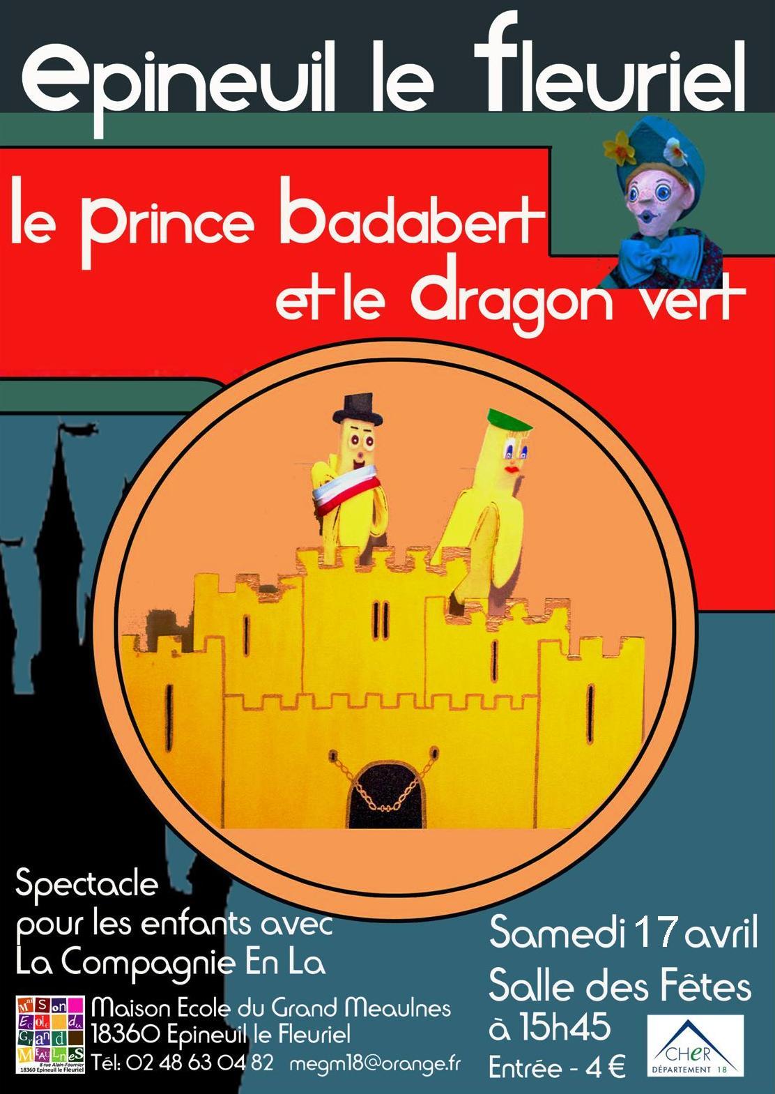Affiche spectacle de marionnette 17 avril 2021