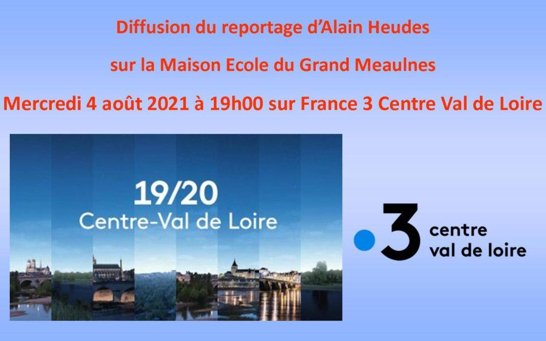 On parle de nous sur France 3 Centre Val de Loire